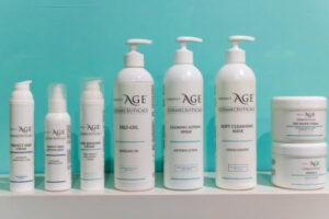 De verzorgingsproducten van het merk Perfect Age voor een gezichtsbehandeling by Lika